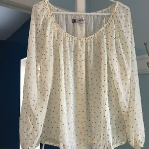 Cream and Gold Polka Dot Blouse